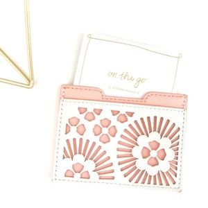 Anthropologie Pippa Card Case Small Wallet Pink